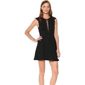 BCBGeneration black ruffle dress with lace inset